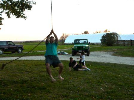 m, swinging
