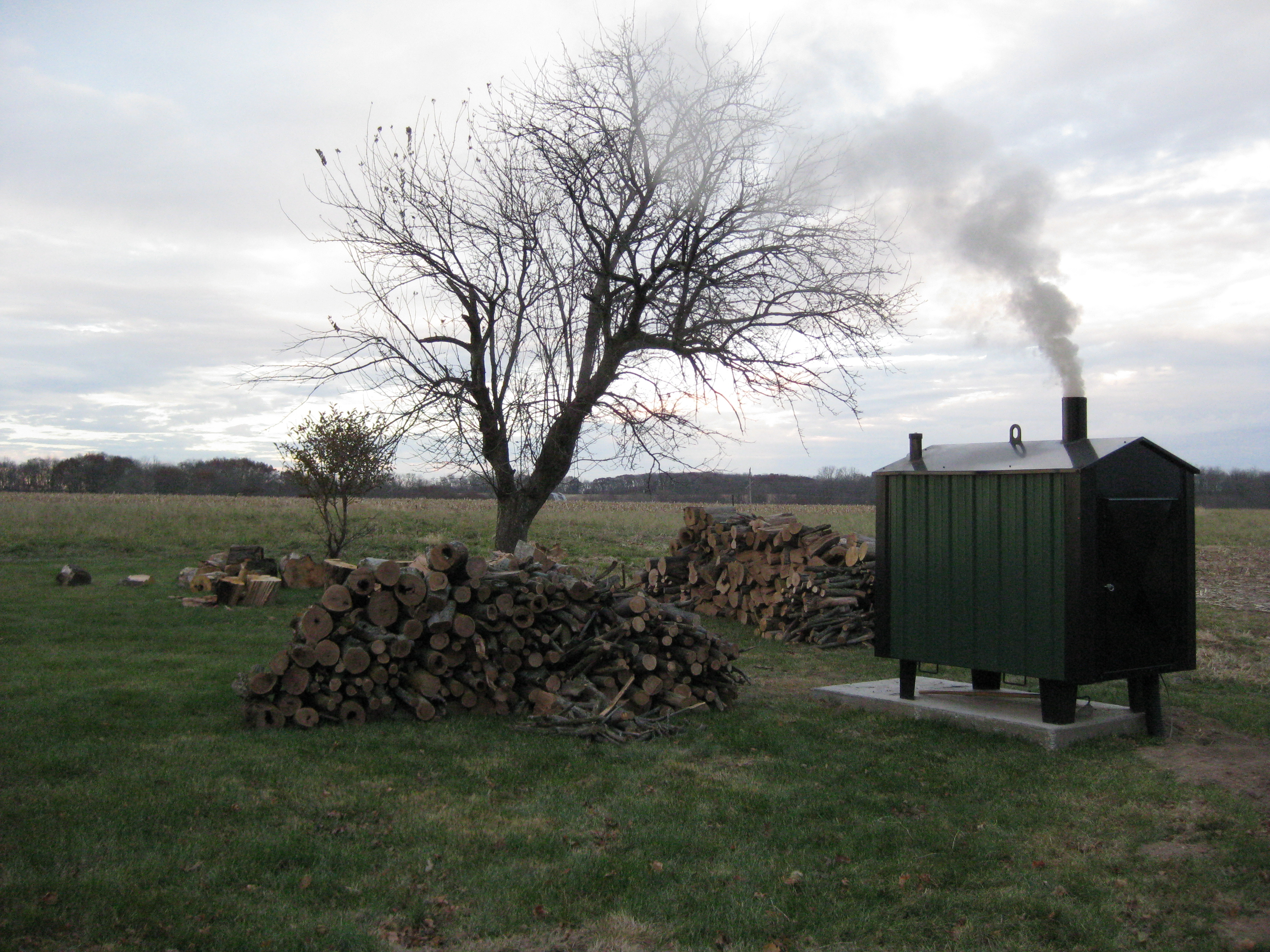 outdoor wood boiler i curiousfarmer